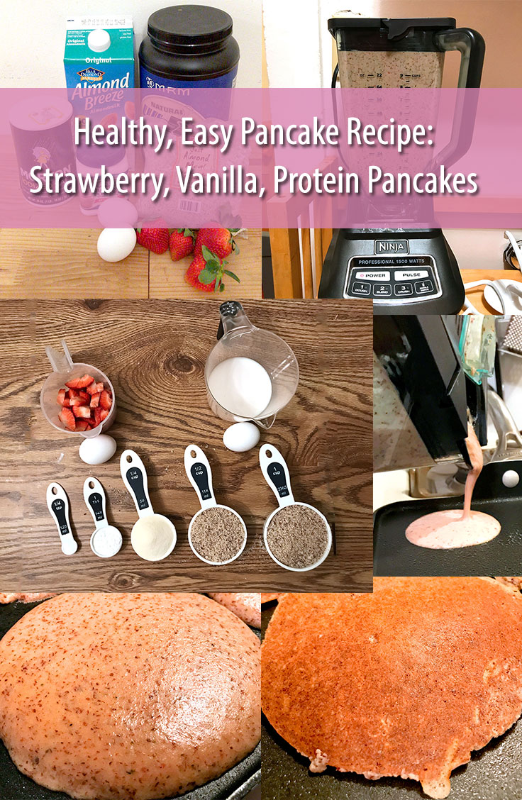 Healthy Pancake Recipe - Strawberry Vanilla Protein Pancakes