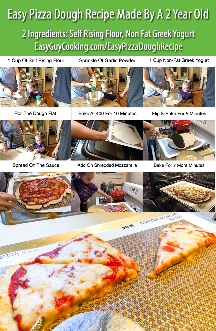 Easy Pizza Dough Recipe Pinterest Image