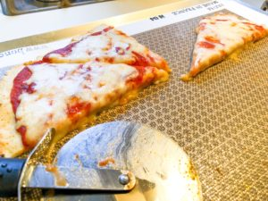 easy pizza dough recipe on baking sheet